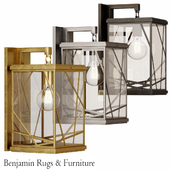 Robert Abbey Michael Berman Bond Clear Glass Wall Sconce.