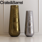 Element Metal Vases by Crate & Barrel