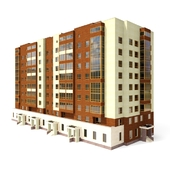 Multi-story residential building / 9 storey house