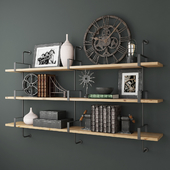 RH 1950S FRENCH FACTORY SHELVING