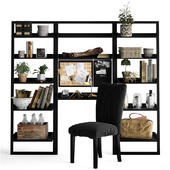 Shelving unit with working table