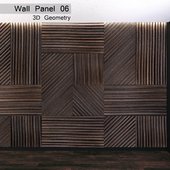 Wall Panel 06. 3D Geometry