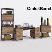 Crate&Barrel Knox Executive Desk set