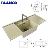 Washing BLANCO ALAROS 6 S and mixer BLANCO ELOSCOPE-F II