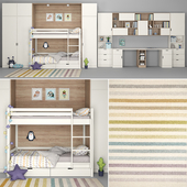Furniture for children's room with a decor for two children