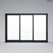 Sliding aluminum window (door