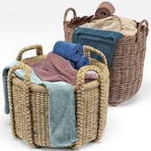 Borocay Wicker Floor Basket, Blossom Hand Woven Basket