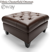 Ethnic Chesterfield Ottoman