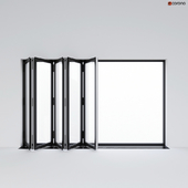 Sliding aluminum window accordion (door)
