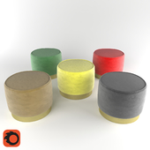 Rounded pouf