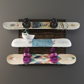 Snowboard storage set
