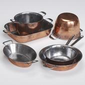 Copper Cookwares Set