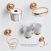 Luxury Gold Color Brass Bathroom Accessories Set_2