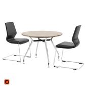 Summa d-1000mm negotiation table and Jet II seats