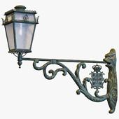 Wall-mounted street lamp
