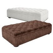 Churchill Leather Coffee Ottoman With Nailheads