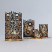 Decorative Openwork Candle Holders