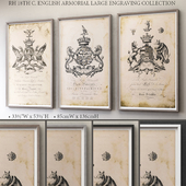 18TH C. ENGLISH ARMORIAL LARGE ENGRAVING COLLECTION