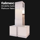 Extractor Falmec Mirabilia Isola 67 Platinum Vetro