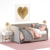 ANNIKA UPHOLSTERED DAYBED WITH TRUNDLE, Restoration Hardware