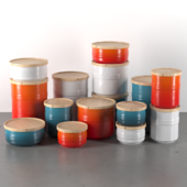 Le Creuset Storage Jars with Wooden Lid