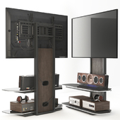 Television stand, acoustics.