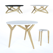 Boulon blanc transformer table