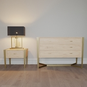 bedside table and chest of drawers ALEXANDRA COLLECTION