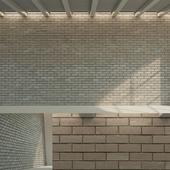 Brick wall (dark brick)