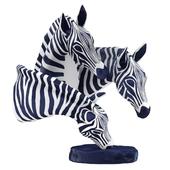 Sculpture three zebras