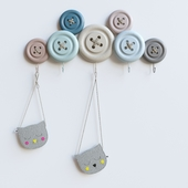 Kare Design Knobs Hook with kids bag