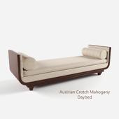 Austrian Crotch Mahogany daybed