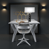 Стол и стул с зеркалом KATE HUME