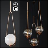 Pendant Lamp Loop Brass _ 2