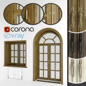 Classic eurowindows and arched door, 3 colors