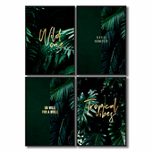 Posters with leaves of fern.