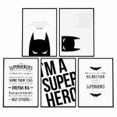 Постеры для детской комнаты - супергерой Бэтмен.