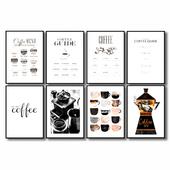 Постеры с кофе.