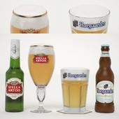 Hoegaarden and Stella Artois Beer