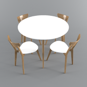 Table Milan + Table Mosso II + Chair