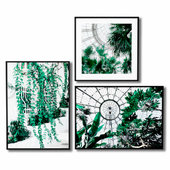 Posters with a botanical garden.