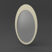 OM Oval-shaped mirror FratelliBarri VENEZIA in decoration silver leaf, varnished champagne, FB.MR.VZ.12