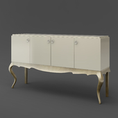 OM Buffet on the bent legs FratelliBarri VENEZIA in the finish pearl cream, lacquered silver, varnished champagne, FB.SB.VZ.30