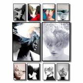Posters with hallucinations by Antonio Mora.