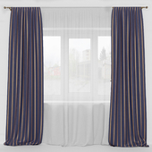 straight curtains