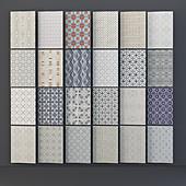 set of 23 seamless textures mosaic tile new ravenna