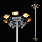 Mast with mobile crown + Spotlight Jupiter