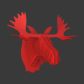 Fred Cardboard Moose Head