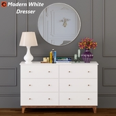 Modern White Dresser
