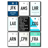 Posters with the largest airports in the world.